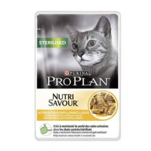 Purina Pro Plan Sterilised Nutrisavour au poulet