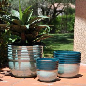 Pot Massaya coloris Blue Lagoon
