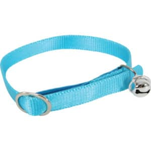 Collier chat en nylon turquoise