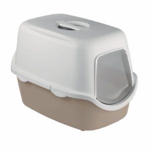 Maison de toilette pour chat bicolore Cathy avec filtre