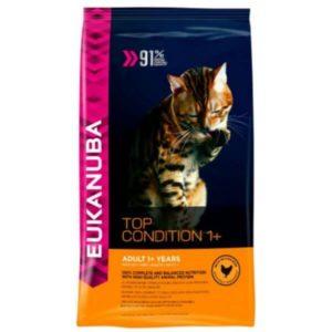 Les croquettes Eukanuba Adult Poulet et Foie sont indiquées pour les chats adultes de plus d'un an et de toutes les races.