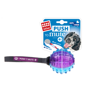 Balle Push to Mute GiGwi pour chien