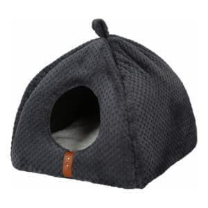 Niche Igloo ouatiné Paloma pour chat gris