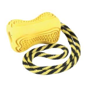 Jouet à mâcher pour chien caoutchouc Titan jaune