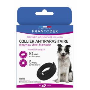 Francodex Collier anti-parasitaire dimpylate pour chiens