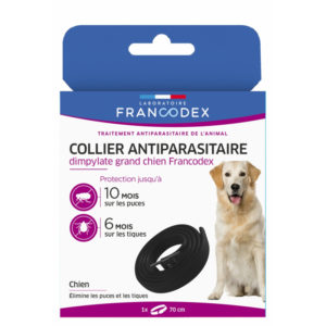 Francodex Collier anti-parasitaire dimpylate pour grands chiens