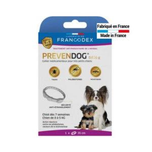 Collier Prevendog® 0,636 g Chiot dès 7 semaines chien de 0 à 5KG