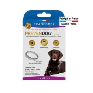 Francodex Prevendog collier anti parasitaires pour grands et très grands chiens