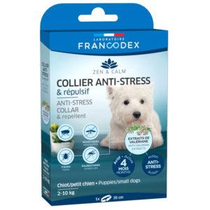 Francodex collier anti-stress et répulsif pour chien de 2 à 10 kg