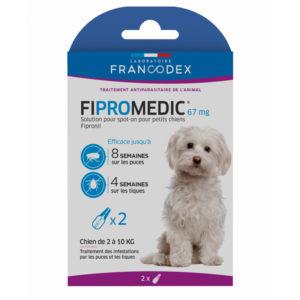 Francodex Fipromedic 67 mg pour chiens de 2 à 10 kg