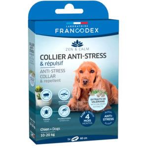 Francodex collier anti-stress et répulsif pour chien de 10 à 20 kg