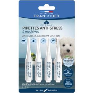 Francodex Pipettes anti-stress et répulsives pour chiens de 2 à 10 kg