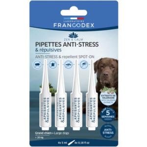 Francodex Pipettes anti-stress et répulsives pour chiens plus de 20 kg