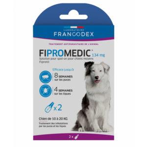 Francodex Fipromedic 268 mg pour chien de 20 à 40 kg 2 pipettes