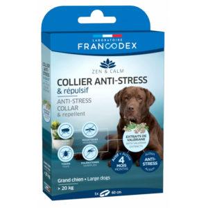 Francodex Collier anti-stress et répulsif pour chien plus de 20kg
