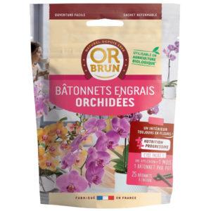 Bâtonnets d'engrais pour orchidées Or Brun