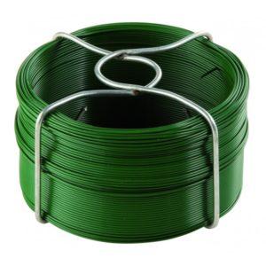 Fil d'attache plastifié vert