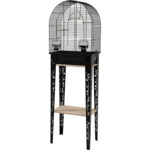 Cage oiseaux avec son meuble Chic Patio Noir
