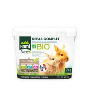 Optima Bio Repas complet jeune lapin et lapin toy - Hamiform