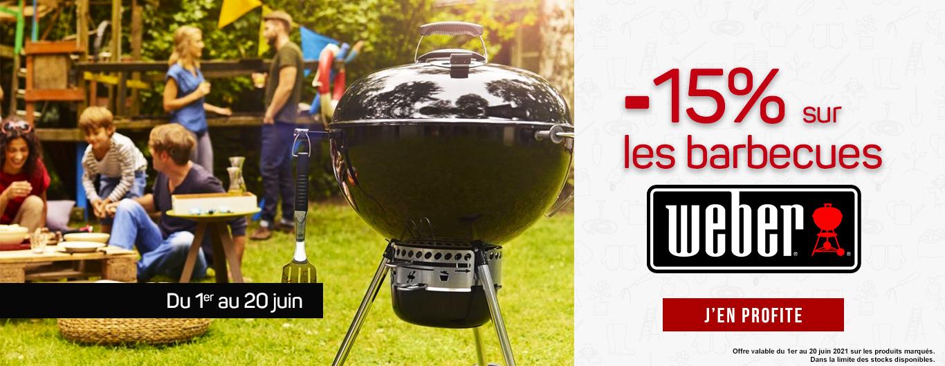 -15% sur les barbecues